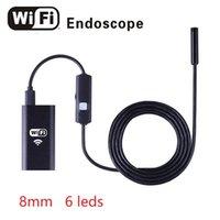 8 mm Objectif HD 720P WiFi Caméra Endoscope caméra d'inspection étanche 6leds Mini Wireless Borescope pour Android IOS de Windows