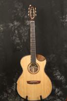 40 inch GA barrel bear claw pattern + walnut all solid wood electric box black finger electric acoustic guitar
