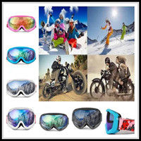 Camadas duplas Anti-fog de esqui Óculos snowboard Máscara inverno Snowmobile Motocross óculos à prova de vento Proteção UV exterior Desporto Óculos