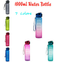 32oz Leakproof Water Bottles with Time Maker Straw Lid Plast...