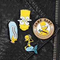 Семья Симпсонов броши Pins мистер Бернс Барт Симпсон Мардж Симпсон отворот брошь Pin Vintage TV Show 90С ювелирных изделий