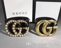 e2c55255063 with box 4cm width belt Fashion style designer Luxury Black 4cm Belts  MARMONT Buckle size 105cm 110cm Best size mens women strap Jeans bel