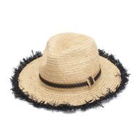 Rohe Strohhüte Jazz Panama Hut Mode Damen Sommer Strand Hut Sun Protection Sun Hat Breitrand Hüte