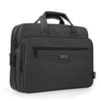 حقيبة الأعمال الجديدة حقيبة كمبيوتر محمول أكسفورد القماش متعددة الوظائف حقائب اليد للماء حقائب رجال الأعمال حقائب الكتف السفر Y19051802