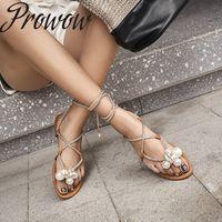 2020 Yeni moda ayakkabılar kadınlar İnci Kadın sandalet Prowow