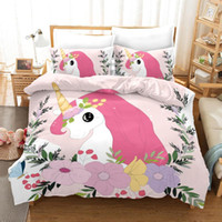 Unique Unicorn 3d Bedding Set Duvet Covers Pillowcases Child...