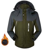 Plus Size 5XL Winter Men's Thicken Down Parkas Outdoor Windproof Waterproof Hooded Jacket Men Fleece Velvet Warm Outwear Coats