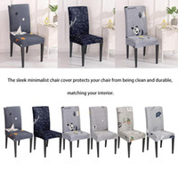 Stretch Chair Cover Removable Washable Jacquard Dining Chair...