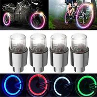 Flaş LED Tekerlek Işıklar Bisiklet Bisiklet Bisiklet Oto Lastik Jant Neon Vana Ateşböceği Araba Bisiklet Bisiklet için LED Işık Lamba konuştu
