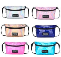 Pink letter Laser Waist Bag LOVE PINK Beach Travel Pack Wate...