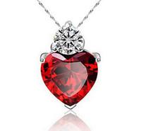 Nuevo 925 joyería de plata esterlina Zircon amor corazón collar de la boda colgante choker collar mujeres vestido plateado plata regalo joyería artesanía