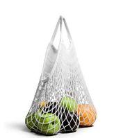 Mode chaîne achats de fruits légumes Sac d'épicerie Sac fourre-tout en coton tissé Mesh net Sac à bandoulière Totes main Accueil Sac de rangement