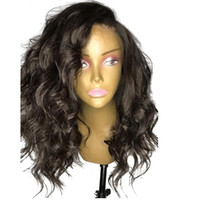 Oulaer sin glóvía 13x6 pelucas de encaje delantero cabello humano con cabello bebé ondulado peruano que no remy pre arranque el cabello natural del 150% de la densidad