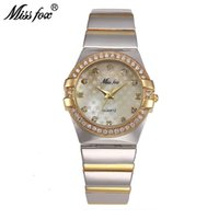 Fräulein Fuchs Gold Uhr Modemarke Strass Relogio Feminino Dourado Uhr Frauen Xfcs Grils Superstar Ursprüngliche Rolle Uhren Y19062402