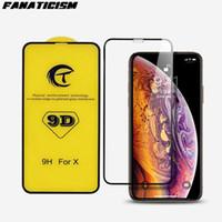 Protecteur d'écran en verre de couverture complet de 9D pour iPhone8 7 6S plus verre trempé pour iPhone 11 Pro XR xS Max Verre Film