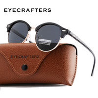 New Polarized Round Sunglasses Mens Womens 브랜드 디자이너 클럽 라운드 안경 클래식 Sun glasses Semi Rimless Eyewear 운전