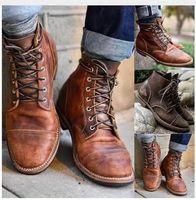 Plus Size EU 38-48 Masorini Männer Leder Lace-up Martin Kleid Schuhe Herren Vintage Britische Schuhe Herbst Winter Großhandel