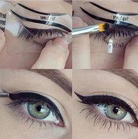 DHLClear Eyeliner Cards Eyebrow Shaper plantillas de maquillaje de belleza herramientas de modelado transparente gato Eyeliner Stencil