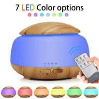 Humidificador ultrasónico Aroma Aroma Aceite Esencial Difusor de grano de madera Con Luces de Noche LED Decoración Del Hogar Cuidado de la Salud GGA1855
