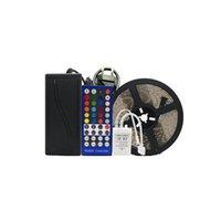 5050 RGBW 5M LED-band Ljusband RGB + Vit varm vit DC12V Flexibel bandlampa 60Lad M 40Key Controller 5A Strömförsörjningsadapter Crestech