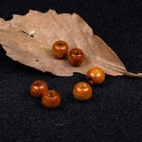 9 * 10mm 4colors Naturholzperlen Holz lose Loch-Korne für Schmucksachen, die DIY Armband Halskette Schmuck Zubehör Günstige DHL