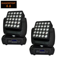 Freeshipping 2 Unidad 25x12W Led en movimiento la etapa de control de la cabeza Matrix Light Led individual Lavadora Efecto RGBW 4IN1 de 19 Color / 29 / 117CH