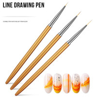 Nail tool set with line drawing pen nail painting point brush fine brush nail polish gel pencil