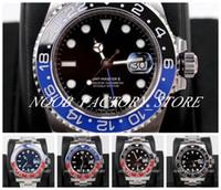 LUXURY 5 Color Super GM Factory Best 904L acciaio acciaio cal. 3186 Guarda la ceramica svizzera GMT II Pepsi 116710 Batman Watches Master Orologio da polso