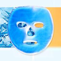 Máscara facial fría caliente Mujeres Gel Máscara de cara Turmalina S Masaje calmante Reutilizable Máscaras de belleza Hielo Pack de cara Cara 0611053