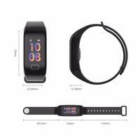F1S الذكية سوار اللون الأكسجين شاشة الدم مراقب الذكية ووتش رصد معدل ضربات القلب ساعة ذكية للياقة البدنية المقتفي ووتش للحصول على الروبوت دائرة الرقابة الداخلية فون