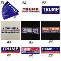 Donald Trump 2020 Autocollants voiture 7,6 * 22.9cm autocollant pour voiture Gardez Marque Amérique Grande Decal pour la voiture Styling véhicules Paster 12 Styles ZZA1422-2