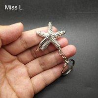 Collezione stelle marine anello Puzzle Metallo Modello Rompicapo il regalo del giocattolo di mini puzzle con l'anello chiave
