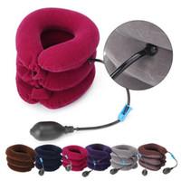 Collar cervical Cuello Almohada Alivio apoyo de la tracción Soporte Camilla inflable cuello comodidad almohadilla del amortiguador de la almohadilla del recorrido del aire