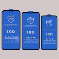 아이폰 11 프로 XR XS MAX X 8 7 6S 10D에 강화 유리 화면 보호기 더한 전체 커버 아교 접착 보호 유리 필름을 만곡
