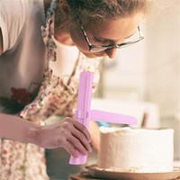 Ajustável bolo raspador bolo ferramenta mais suave para confeiteiro, fondant Creme contornos decoração ferramentas - Azul, Rosa