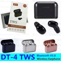 DT-4 Mini Bluetooth v5. 0 auricolare DT4 TWS Auricolari Senza Fili Vero Stereo Sport Cuffie A Cancellazione di Rumore In-Ear binaurale chiamata Auricolare