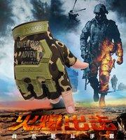 Sport all'aria aperta tattici dell'esercito Airsoft ripresa di combattimento biciclette senza dita Paintball hard Carbon Knuckle mezze dita Guanti