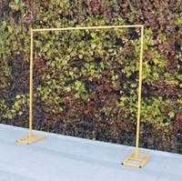 Marco de fondo de boda Metal de hierro 3M * 3M Tamaño del estante de la pantalla al aire libre se puede ajustar el soporte de flores del soporte del globo y las pistas de cortina
