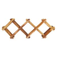 Tablero de vino Tabla de mesa Soporte creativo Inicio Bar Cerveza Soporte de madera plegable Rack Organizador Mostrar estantería (5 botella)
