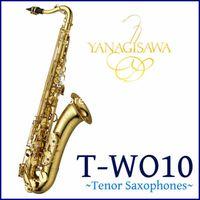 Popolare Yanagisawa T-W010 Bb Tune Sassofono Tenore B flat Brass lacca oro Strumento musicale professionale Accessori caso con