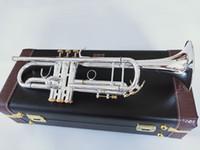 Neue Bach-Trompete Beste Qualität LT197S-99 Trumpet B Flat-Silber überzogene Beruf Trompete Musikinstrumente Geschenk