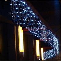 5M LED de Natal Cortina sincelo Luz Cordas inclinar 0.4-0.6m Partido LED Jardim Stage impermeável ao ar livre decorativa Fada Luz