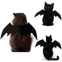 هالوين كلب أجنحة الخفافيش مصاصي الدماء الأسود لطيف الهوى القط اللباس الملابس هالوين ديكور ثخن كلب القط زي BH2340 TQQ