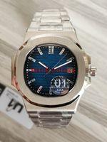 U1 Fabrikası Yeni Erkek Otomatik Hareket 40 mm İzle Mavi F Nautilus Klasik 5711 Dial / 1A Saatler elmas 40 yıldönümü