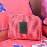 USB الإبداعية ضد الصدمات السفر الرقمية شاحن كابل سماعة حالة ماكياج حقيبة مستحضرات التجميل اكسسوارات المنظم حقيبة التخزين