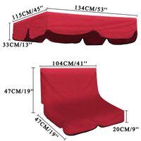 Parasole + 2 posti copertura della sedia copertura superiore impermeabile Nuovo Meigar 2pcs / set esterna altalena da giardino Panca Amaca Canopy Cortile