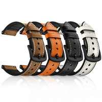 Кожаный ремешок для сторожей 22 мм для Samsung Galaxy Watch 46mm Band Sports Brit Brap для Samsung S3 Frontier / классический ремешок для часов для Huawei Watch GT GT