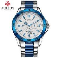 Júlio 2017 Nova Chegada de Luxo Top Marca Chronos Small Dial Relógios de Alta Qualidade Homens Ao Ar Livre Esporte relógio para Masculino Casual JAH-095