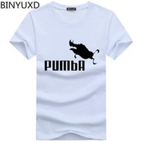 BINYU 2018 t-shirt drôle t-shirts homme Pumba hommes coton manches courtes tops cool t-shirt jersey costume mode t-shirt
