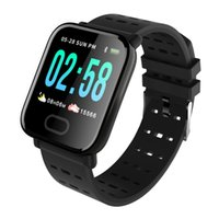 A6 Fitness Tracker Smart Watch Farb-Touchscreen Wasserdichter Blutsauerstoff-Kühldruck mit Pulsuhr Smart Watches